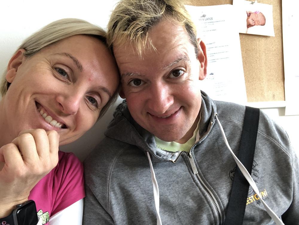 Prvá kontrola tehotenstva, Franta a Ja v čakárni selfie